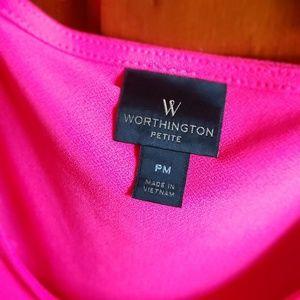 Worthington Tops - Hot pink blouse